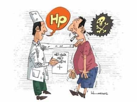 Bị viêm dạ dày có HP dương tính, phải làm sao?