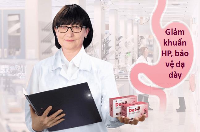 giải pháp cho người nhiễm vi khuẩn HP - DeHP