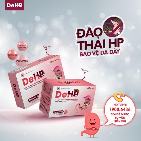 Việt Nam cũng đã có sản phẩm dành cho người đau dạ dày, ứng dụng độc quyền bào chế Pylopass trong sản phẩm DeHP và DeHP Kids